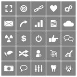 Universal Flat Vector Icons Set 4 Stock Photos