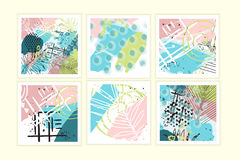 Universal floral posters set Royalty Free Stock Photos