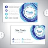 Universal fresh blue business card. Universal fresh blue whirlpool business card Stock Photography