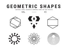 Universal geometric shapes set Stock Photography