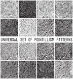 Universal geometric striped dotted seamless pattern set Royalty Free Stock Images