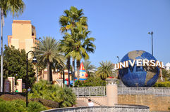Universal Globe in Universal Orlando Stock Images