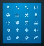 Universal glyphs 1. Video set Royalty Free Stock Photography