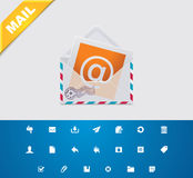 Universal glyphs 11. E-mail Royalty Free Stock Images