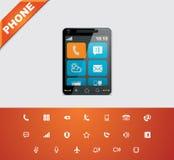 Universal glyphs 12. Phone symbols 1 Stock Photos
