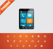 Universal glyphs 13. Phone symbols 2 Stock Photos