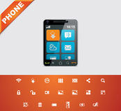 Universal glyphs 15. Phone symbols 4 Stock Photos