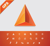 Universal glyphs 18. GPS 1 Royalty Free Stock Photography