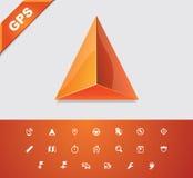Universal Glyphs 18. GPS 1 Royalty Free Stock Photography