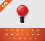 Universal glyphs 19. GPS 2 Stock Photos
