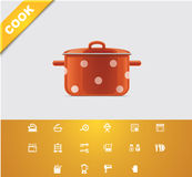 Universal glyphs 22. Cooking Royalty Free Stock Image