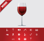 Universal glyphs 24. Wine Royalty Free Stock Photos