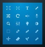 Universal glyphs 3. Photo set Stock Photos