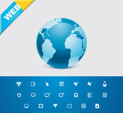 Universal glyphs 9. Web icons Stock Photography