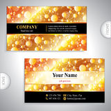 Universal gold business card Stock Photos
