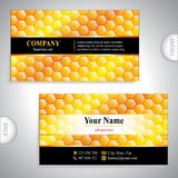 Universal gold business card Stock Photo