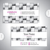 Universal gray business card. Royalty Free Stock Photo