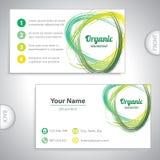 Universal green business card. Stock Photos