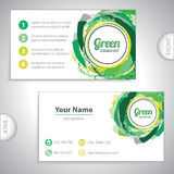 Universal green business card. Universal green whirlpool business card Stock Images