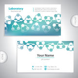 Universal greenish business card. Royalty Free Stock Image