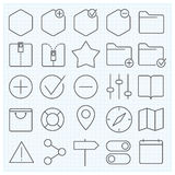 Universal GUI icons set. Universal GUI vector icons set for web design and applications Royalty Free Stock Image