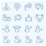 Universal GUI people theme  icons set Royalty Free Stock Images