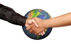 Universal Hand shake Royalty Free Stock Photo