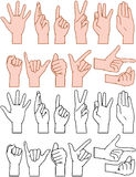 Universal Hand Signs Gestures Stock Photos