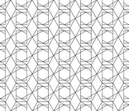 Vector seamless geometric pattern with editable weight of stroke. Universal high quality seamless geometric pattern with editable weight of stroke, clipping mask Stock Photos