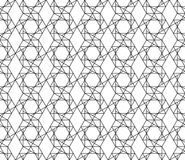 Vector seamless geometric pattern with editable weight of stroke Stock Image