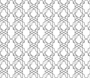 Vector seamless geometric pattern with editable weight of stroke Stock Photo