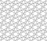 Vector seamless geometric pattern with editable weight of stroke Stock Images