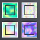 Universal holographic blur texture abstract color fills background surface vector illustration brochure. Royalty Free Stock Image