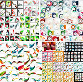 Universal huge mega set of abstract backgrounds Stock Photos