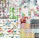 Universal huge mega set of abstract backgrounds royalty free illustration