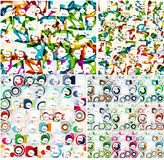 Universal huge mega set of abstract backgrounds Stock Photography