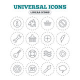 Universal icon. Information, shopping and shower. Stock Photo