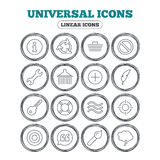 Universal icon. Information, shopping and shower. Royalty Free Stock Photography