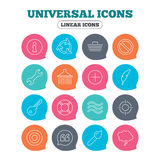 Universal icon. Information, shopping and shower. Stock Images