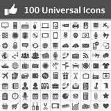 Universal Icon Set. 100 icons. 100 Universal Icons. Simplus series. Each icon is a single object (compound path royalty free illustration