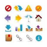Universal icon set. With shadow