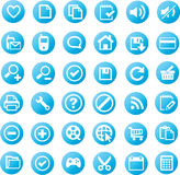 Universal icon set. A large set of universal icons Stock Photography