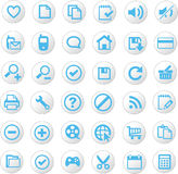 Universal icon set. A large set of universal icons Stock Images