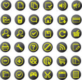 Universal icon set. A large set of universal icons Royalty Free Stock Photo