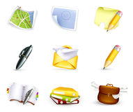 Universal icon set, high quality Royalty Free Stock Photo