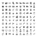 Universal Icon Set. 100 icons. 100 Universal Icons. Simplus series. Each icon is a single object stock illustration