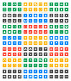 Universal  icon set - Material Design. Universal set of social, technical, household icons  on white background. Vector illustration designed in a modern style Royalty Free Stock Image