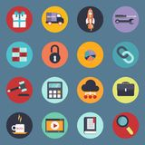 Universal icon set for websites and mobile applications. Flat vector illustration Royalty Free Stock Photo