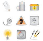 Universal icons Stock Photography