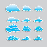 Universal icons clouds - Set  (Weather) Royalty Free Stock Photos